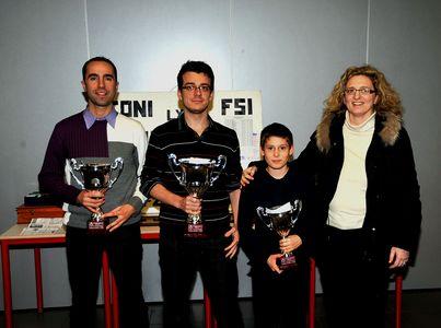 Le podium de Bergame : M.Orsi, S.Rota, F.Rambaldi